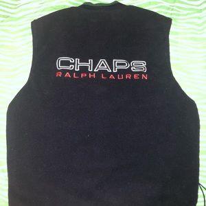 Chaps Ralph Lauren Reversible Vest L Spell Out